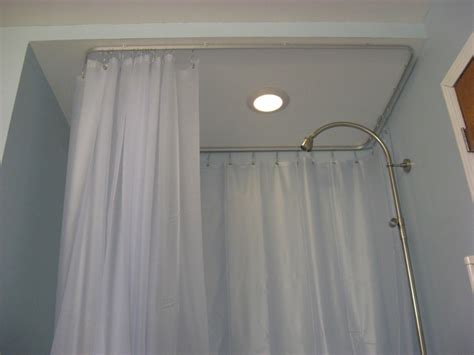Ceiling Tracks For Curtains Oval Ceiling Track For A Shower Curtain Useful Reviews Of Shower Stalls Enclosure Bathtubs