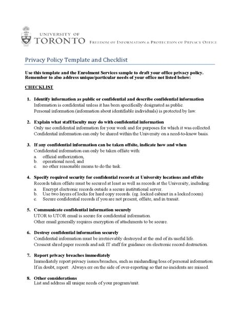2018 Privacy Policy Template Fillable Printable Pdf Forms Handypdf Privacy Policy Template Pdf