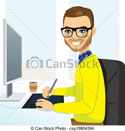 can graphic designers work from home eps vectors of graphic designer working