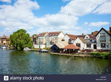 houses to buy in st neotes riverside view on the right is bridge house bar st neots stock photo royalty free