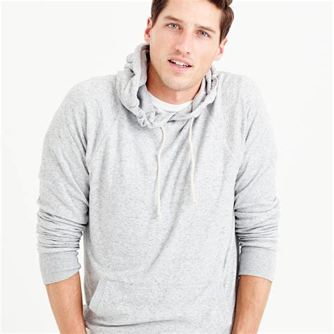 knit pullover hoodie j crew knit pullover hoodie in for lyst