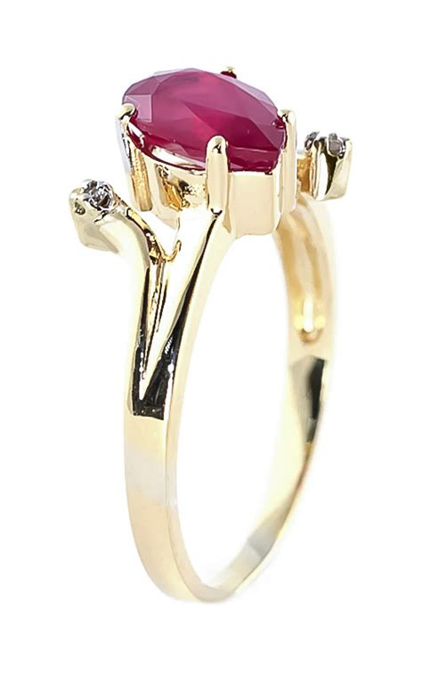 Ruby 4 5ct ruby and flank ring 1 5ct in 9ct gold 4371y qp