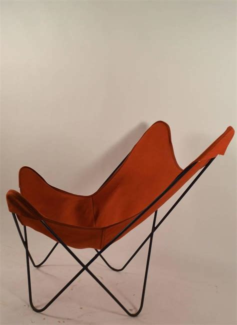 Canvas Sling Chair by Hardoy Butterfly Chair With Original Orange Canvas Sling