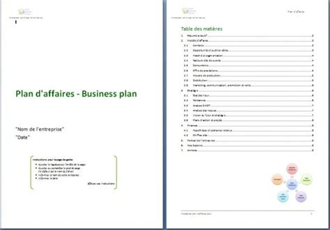 Modèle Plan D Plan D Affaires Business Plan Social Business Models