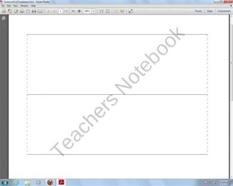 free sentence strip template 3 teaching pinterest