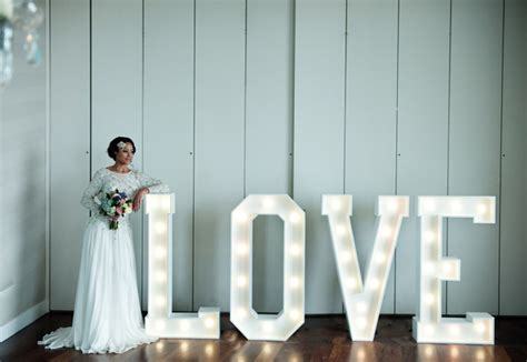 me light up letters a wedding ideas feature with gloriously glowing