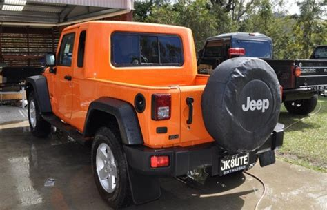 jeep ute conversion jeep wrangler ute fact or fiction