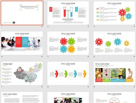 set powerpoint template free color set 40 ppt 61668 sagefox powerpoint templates