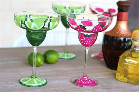 Decorated Margarita Glasses by Diy Painted Margarita Glasses With Pictures Ehow