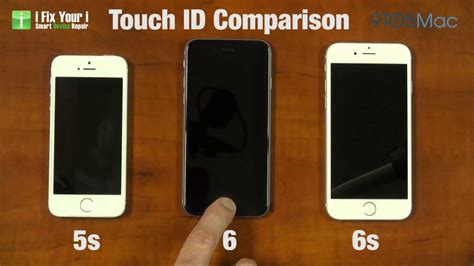 Id Iphone 5 Iphone 5s iphone 6s touch id 2nd speed comparison vs iphone 6