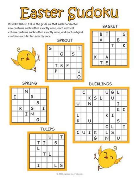 printable easter sudoku easter sudoku puzzle worksheet