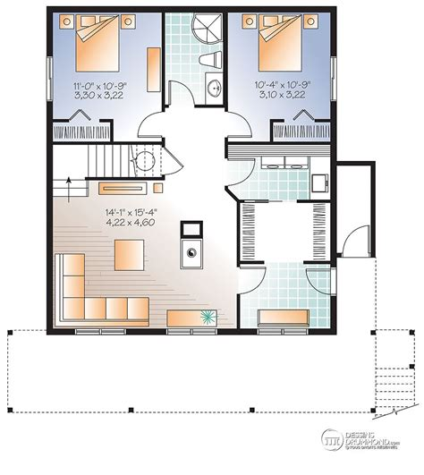 A Frame House Floor Plans images du plan de maison unifamiliale w3938 v1 sous sol