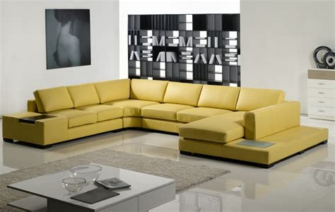 Yellow Leather Sofa Modern by Modern Yellow Leather Sectional Sofa Tos Lf 2029 Yel
