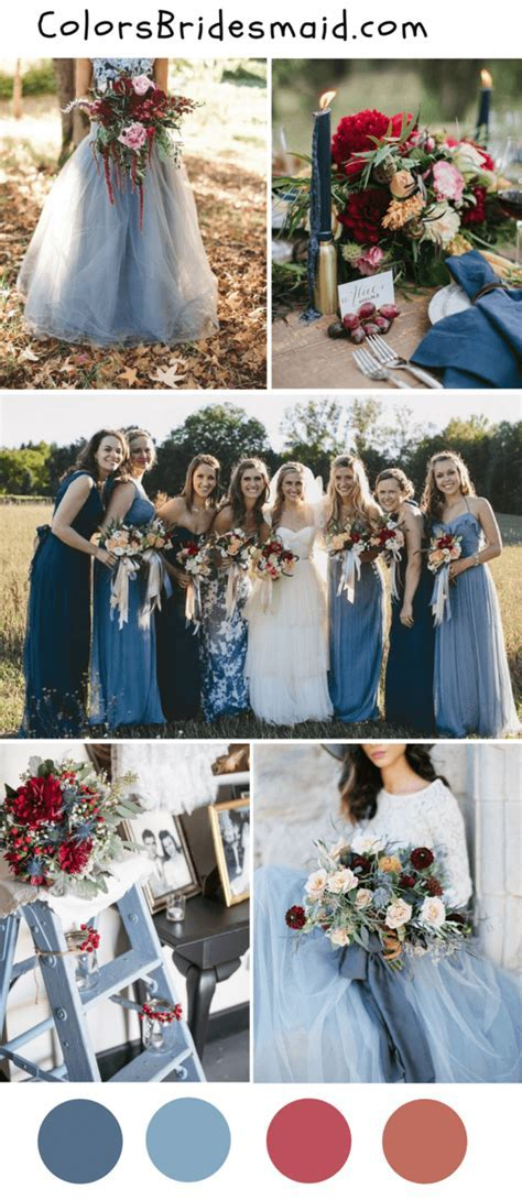 8 popular fall wedding color palettes for 2018