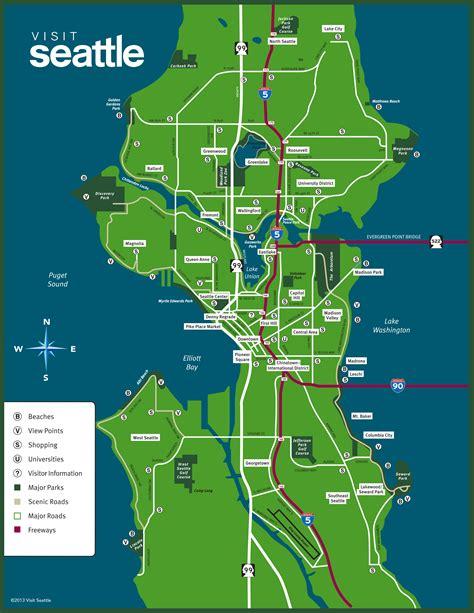 seattle neighborhood map maps update 14882105 seattle tourist attractions map