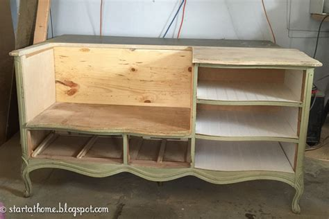 turn a dresser into a bench french dresser turned bench start at home decor