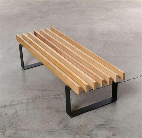 architectural benches architectural slat bench coffee table c 1960s sweden at 1stdibs
