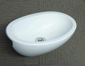 Caravan Bathroom Sinks by Caravan Motorhome Bathroom White Plastic Oval Vanity