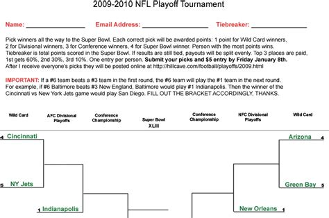 nfl playoff bracket template fotograf nfl playoff bracket template