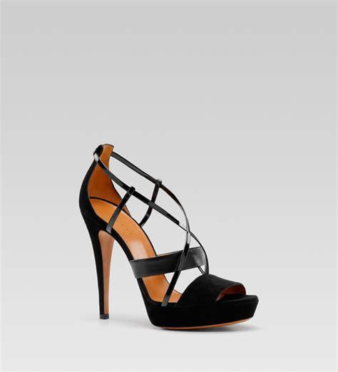 high heel platform gucci betty high heel platform sandal in black lyst