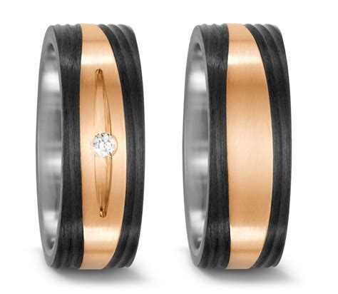 Eheringe Bronze by Partnerringe Hochzeitsringe Aus Titan Carbon Und Bronze