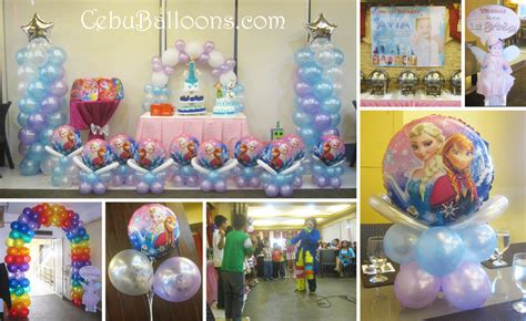 decorations disney disney frozen balloon decoration setup at lakwatsa resto