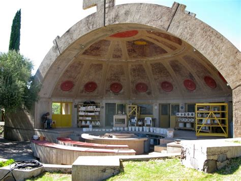 House Courtyard by Remembering Life In Arcosanti Paolo Soleri S Futuristic