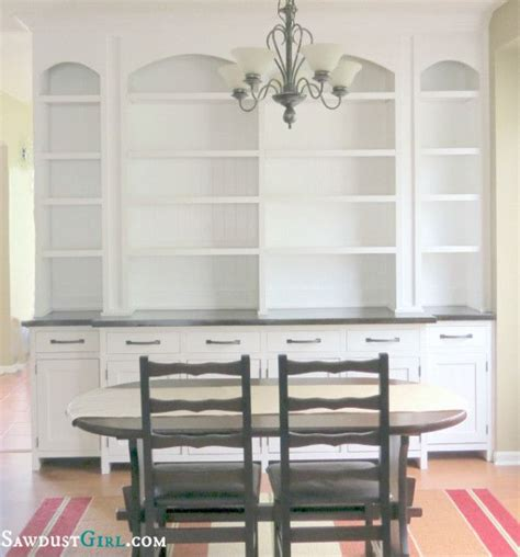 white built in cabinets in dining room dining room built in buffet sawdustgirl diy