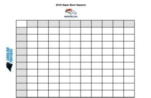 Free Printable :: 2016 Superbowl Betting Squares   Stylish