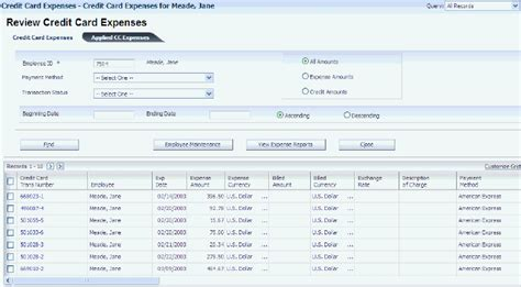Template To Track Credit Card Transactions On Employees by Entering Expense Reports