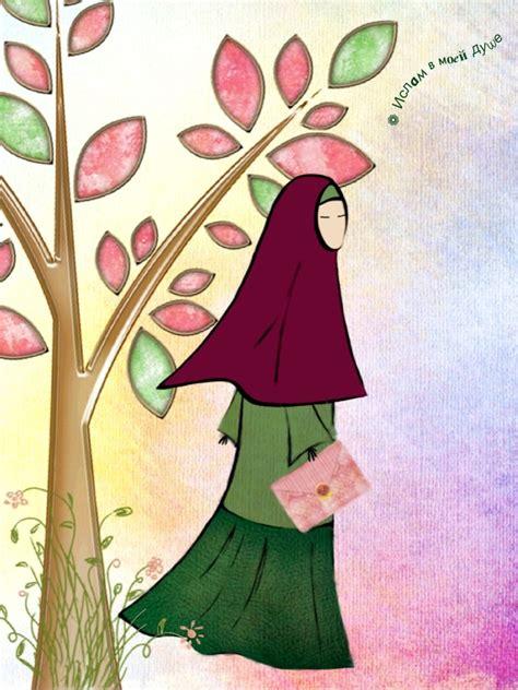 Hijaber Cantik Kartun 1000 Images About Lovely Muslim Girls