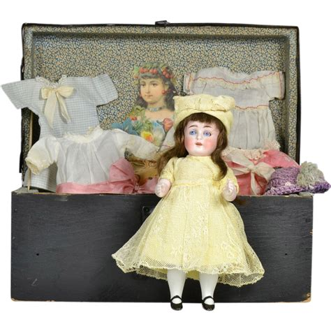 bisque doll for sale sale all bisque 208 doll 8 1 2 quot with trunk clothing