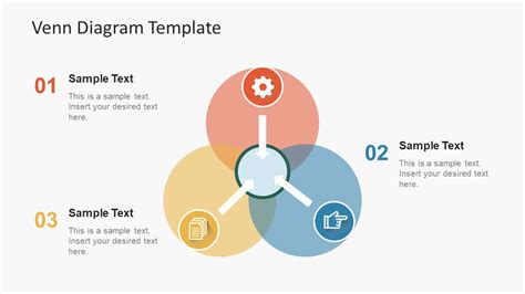 Simple Flat Venn Diagram Powerpoint Template Slidemodel Venn Diagram Template For Powerpoint