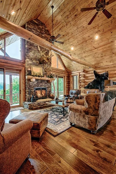 Chic Shaggy Rugs Inspiration For by Log Cabin Homes Interior Highlands Log Structures Log