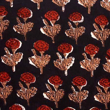 black pattern cotton fabric buy black and red flower pattern kalamkari indian cotton