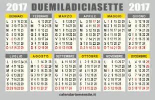 Calendario 2018 Vettoriale Gratis Calendario 2017 Vettoriale