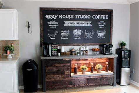 fun kitchen decorating themes home unique coffee bar ideas for your home serve the coffee
