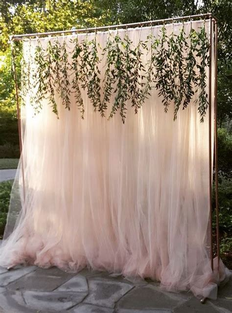 diy wedding backdrop with lights outdoor wedding ceremony decor unique floral and weddings