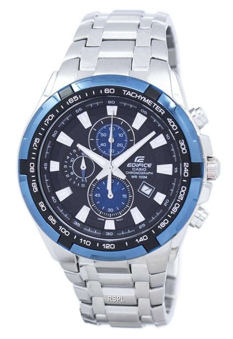 casio edifice chronograph tachymeter ef   mens