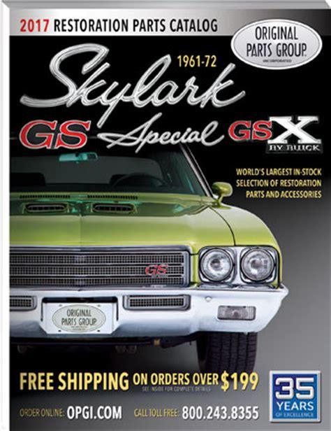 1972 buick skylark parts catalog free 1961 1972 skylark special gs gsx parts catalog