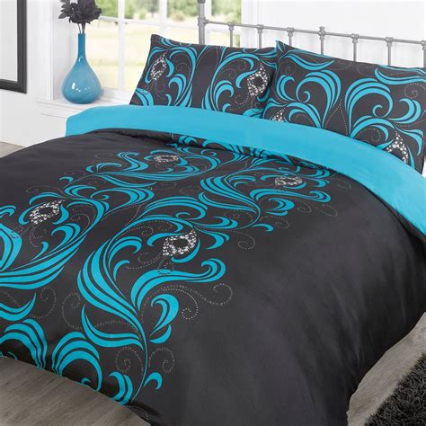 Black And Teal Comforter Set by Teal And Black Comforter Set 28 Images 7 Pc Floral