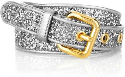 Timesaver Stila Kit by Miu Miu Glitter Covered Leather Belt 7 Stunning Waist