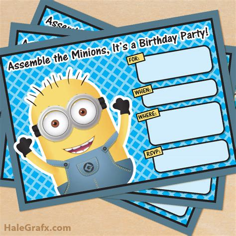 40th Birthday Ideas Birthday Invitation Template Minions Despicable Me Invitations Templates