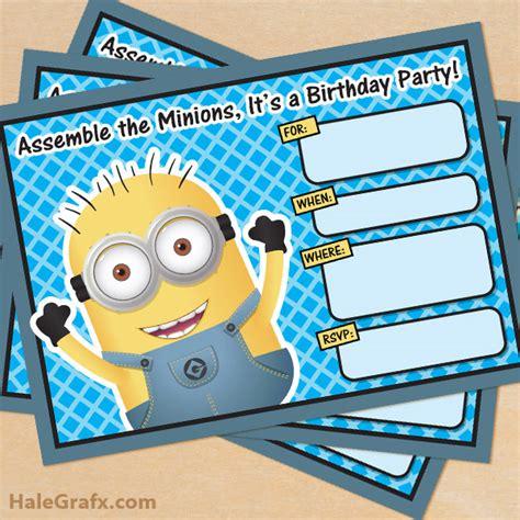 printable birthday invitations despicable me free printable despicable me minion birthday invitation