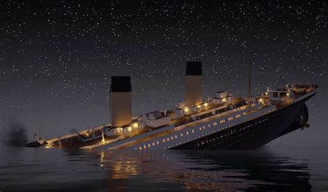 titanic sink the titanic sink in real time in a new 2 hour 40