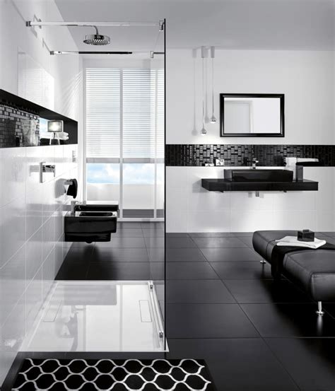 badezimmer le modern bathroom in black and white interior design ideas