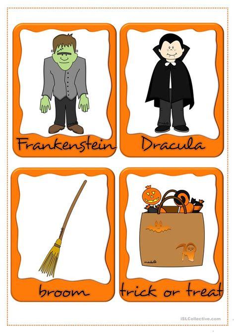 halloween flashcards printable halloween flashcards worksheet free esl printable