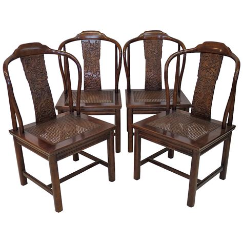 henredon dining room furniture set of four asian inspired chairs by henredon furniture at