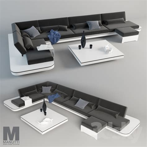 3d models: Sofa   Sofa Elements Manutti
