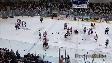 bench clearing brawl bench clearing hockey fight brawl hd youtube